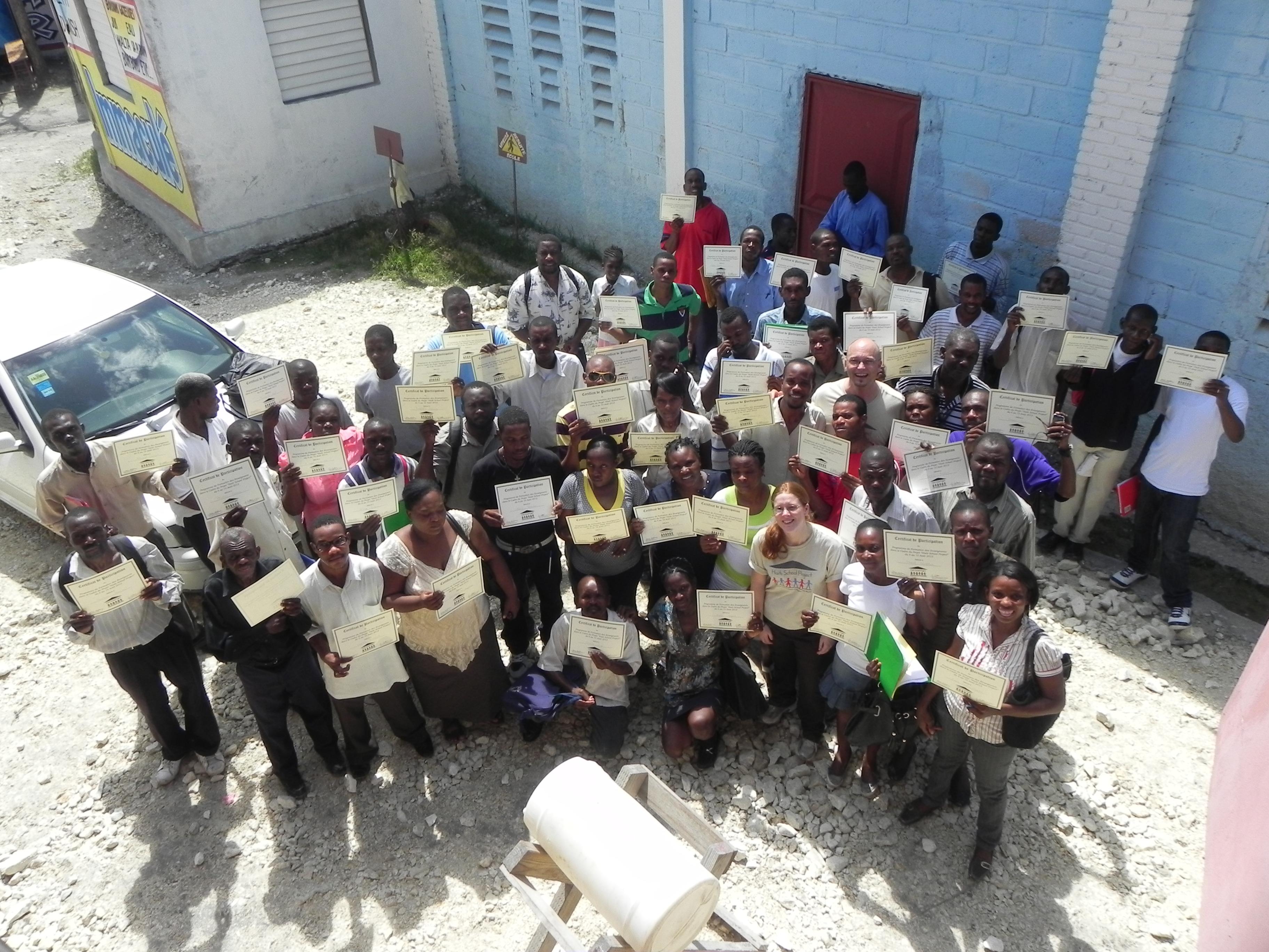 Teacher Training's Certificates in Villard 2012
