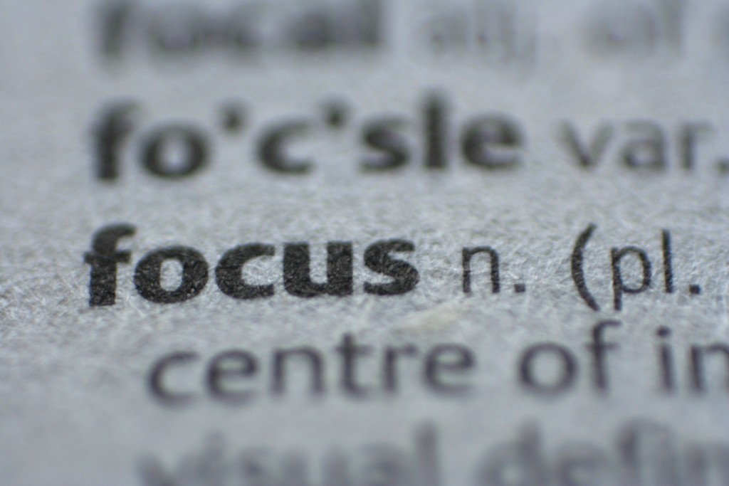 Focus on more if you want more